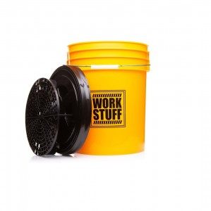 WORK STUFF Detailing Bucket Yellow – wiadro WASH + separator czarny + pokrywa
