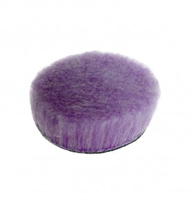 Lake Country Purple Foamed Wool Buffing & Polishing Pad - futro polerskie 90mm