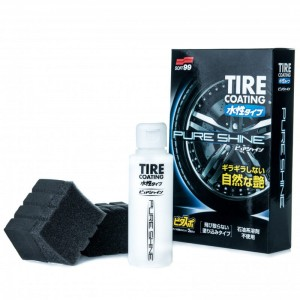 "SOFT99 Water-Based Tire Coating ""PURE SHINE"" - dressing do opon 100 ml"